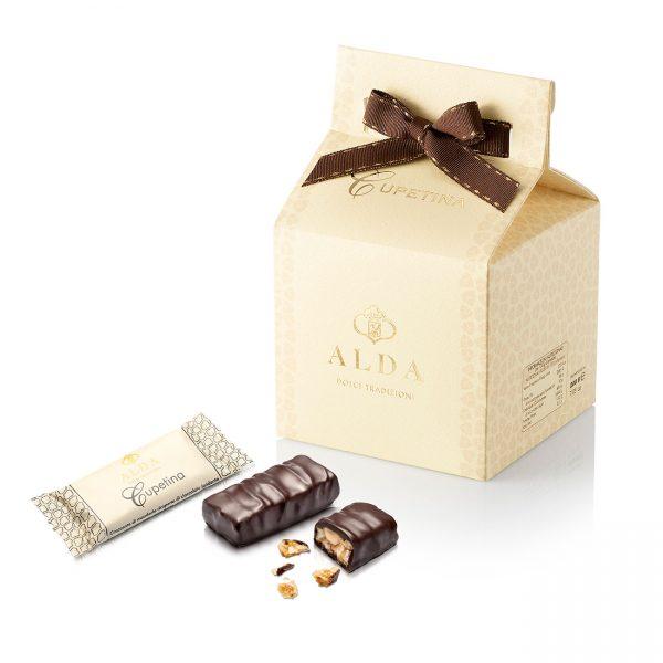 Cupetina ricoperta di cioccolato fondente