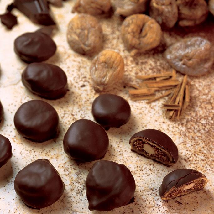 Fichi ricoperti di cioccolato fondente Alda
