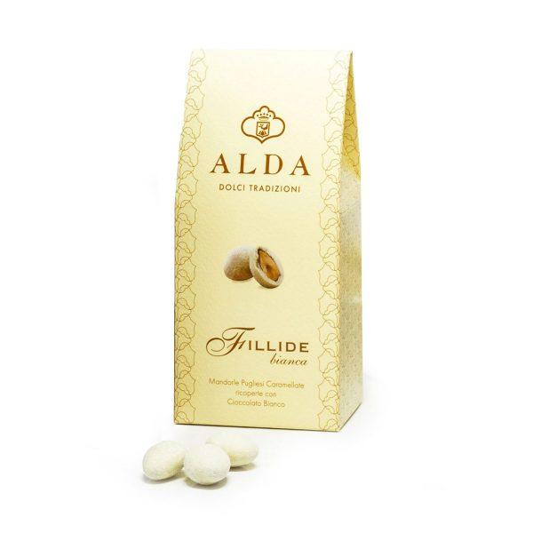 Mandorle ricoperte di cioccolato bianco